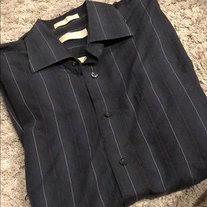 Michael Kors 16 34/35 stripe dress shirt L